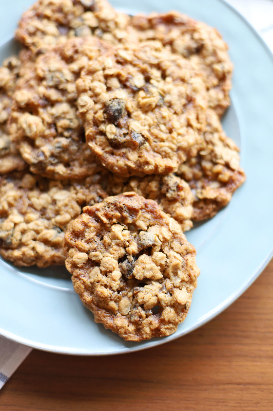 Plate of Date-Walnut Oatmeal Cookies