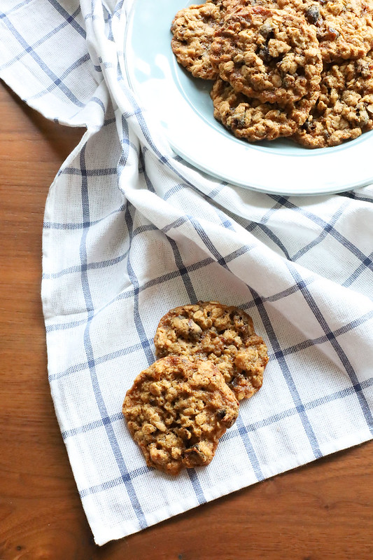 Pair of Date-Walnut Oatmeal Cookies