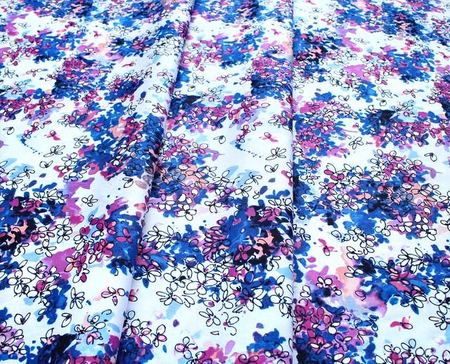 RJR Fabrics Ink Rose RJ1802-SB2 Lili Flowers Sweet Breeze