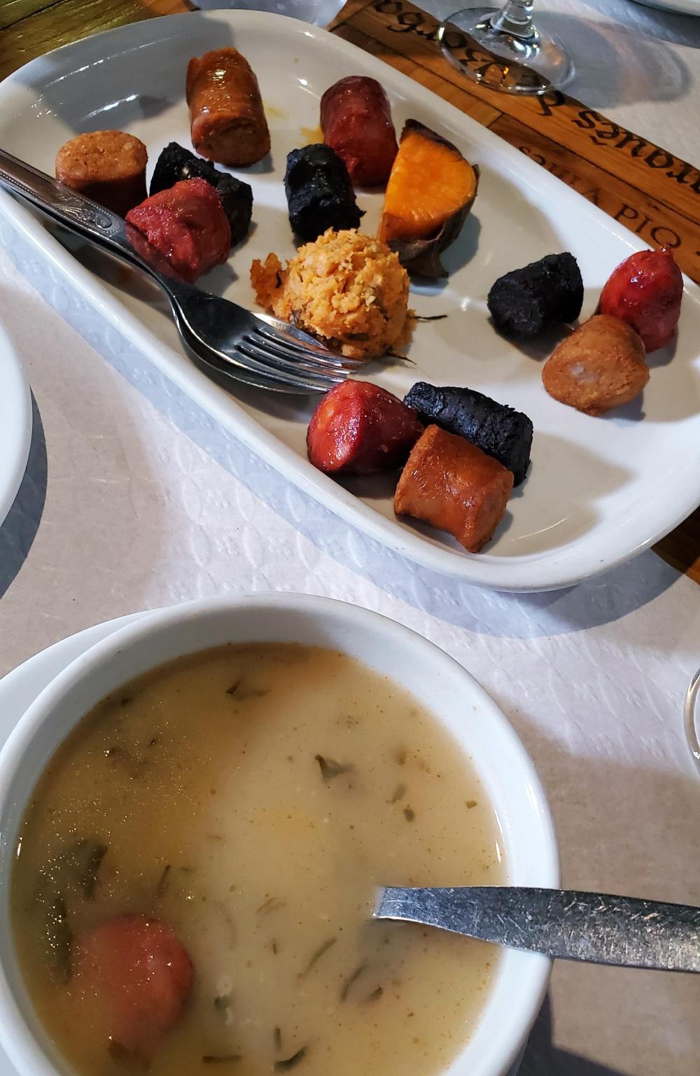 Caldo Verde soup Azores sausages