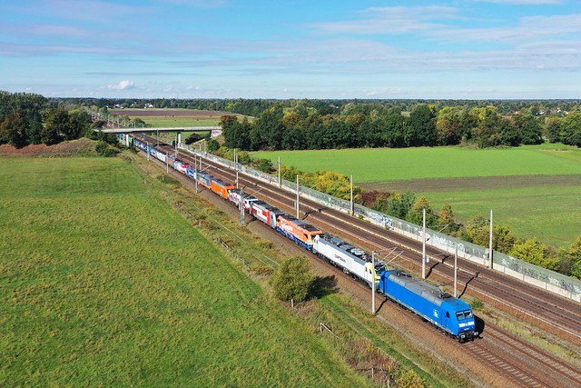 Press 145 030 + Dbz 88059 Lokzug NEE-Demo Hör das Signal  Wustermark - Berlin Grünau  - Dallgow