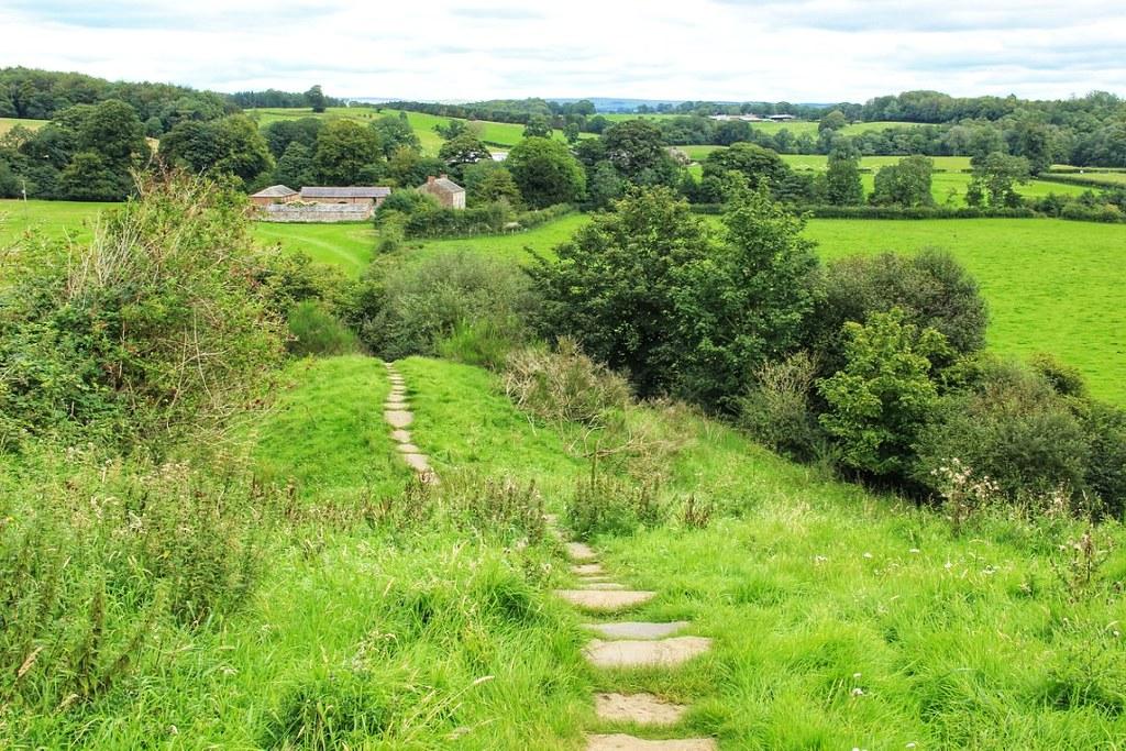 The descent down into Walton, Hadrian's Wall Path