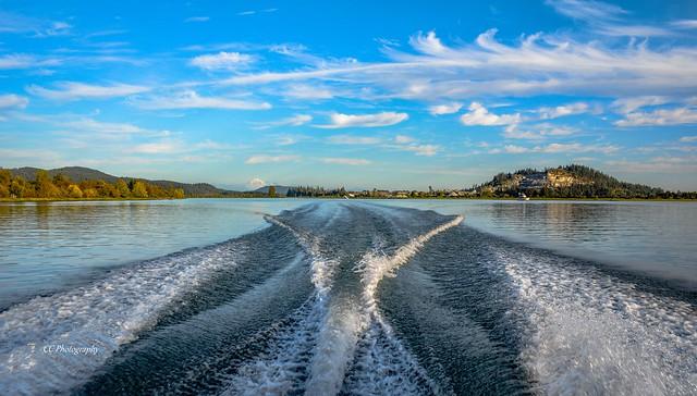 BOAT WAKE - Pitt River, British Columbia