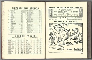 Manchester United v Tottenham Hotspurs League Division Two Season 1935-6