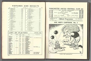 Manchester United v Hull City-League Division Two Season 1935-6