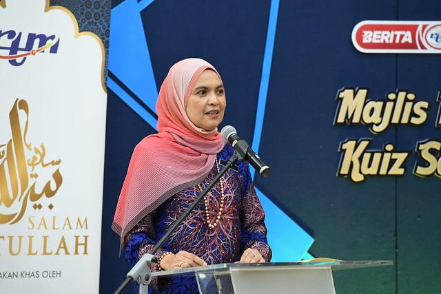 Ucapan yang disampaikan oleh YBhg. Datuk Saidatu Akhma Binti Hassan (Timbalan Ketua Pengarah Penyiaran,Strategik)