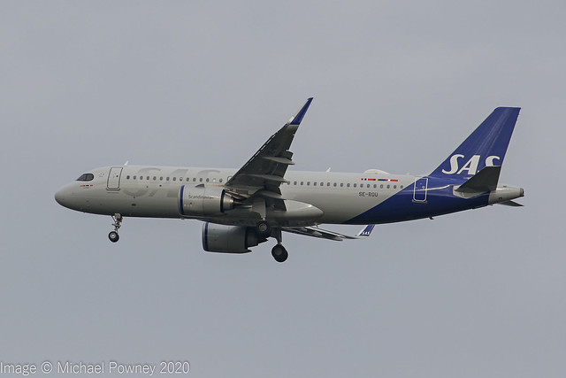 SE-ROU - 2019 build Airbus A320-251N, on approach to Runway 23R at Manchester