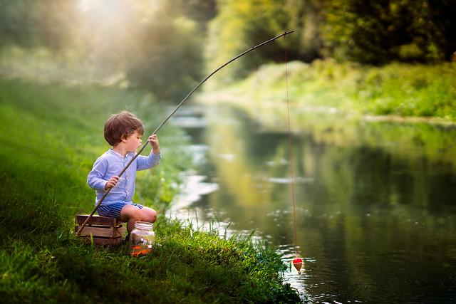 Little Lou went fishing