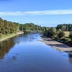 Down the blue River Ribble at Preston