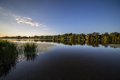 canon6d landscape lake water reflection uk cambridgeshire sky blue trees