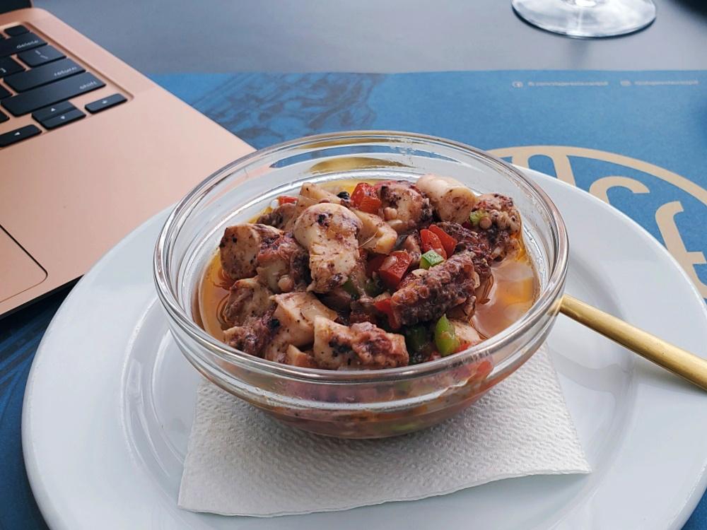 octopus salad Stage Restaurant