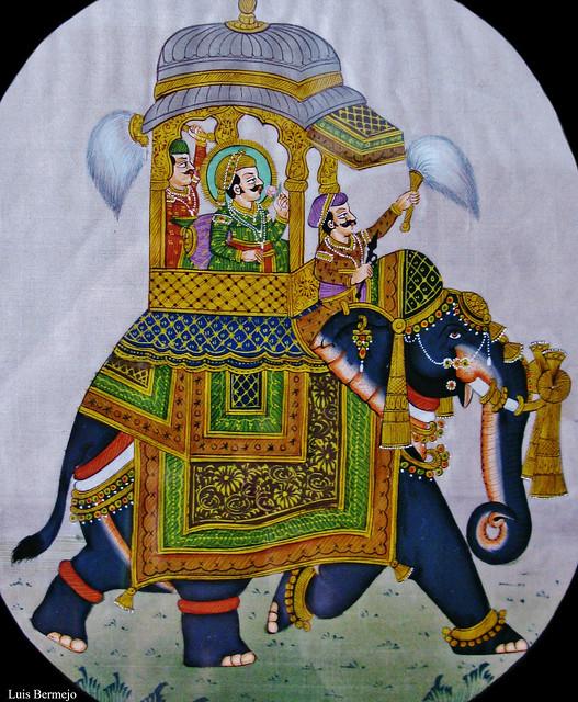 Miniatura India en Seda