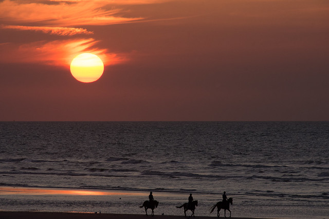 The three horsemen of the sunset.