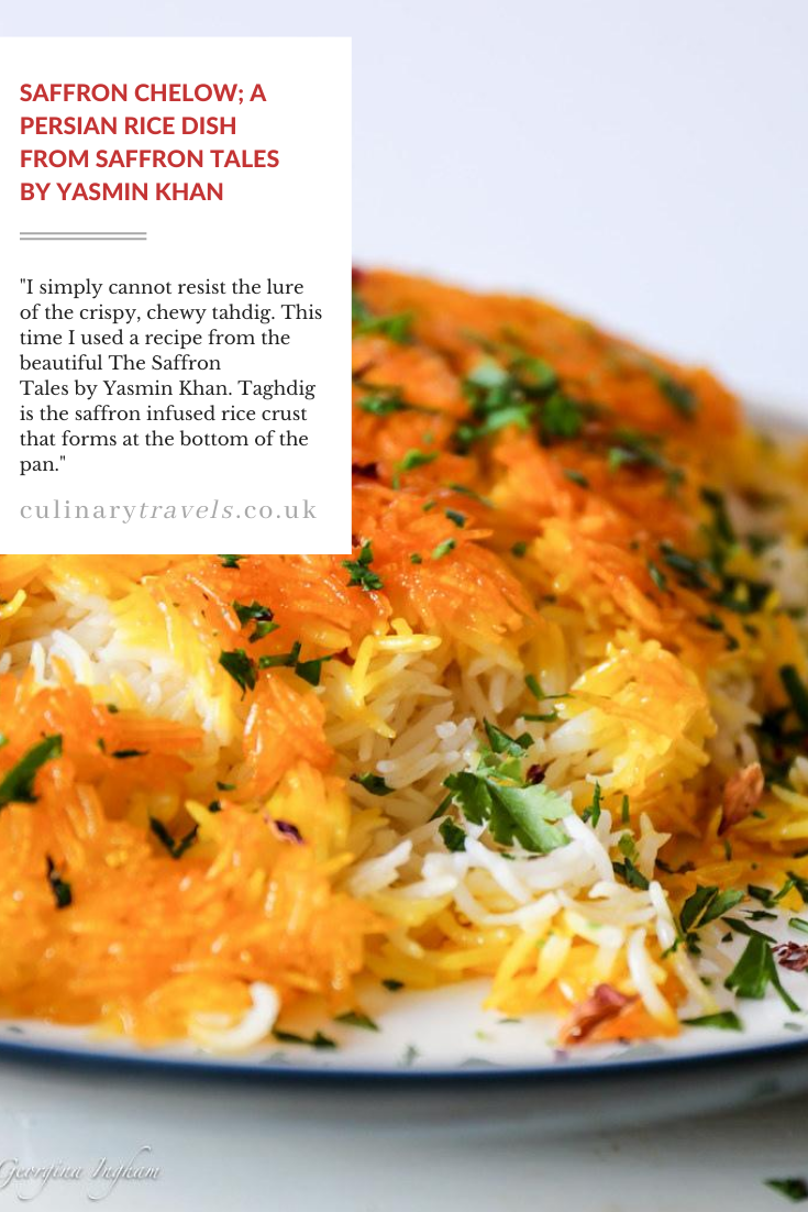 Saffron Chelow - A Persian Style Rice with a Crisp, Crunch Tahdig. A little effort to make, but, that's more than made up for in taste.