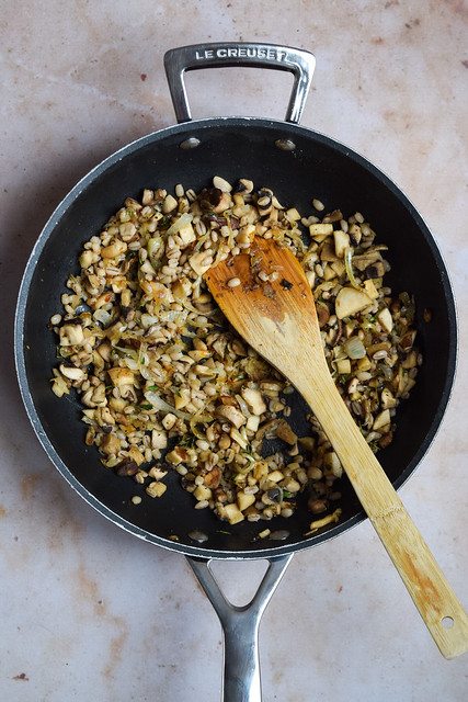 Mushroom & Pearl Barley Pastry Filling