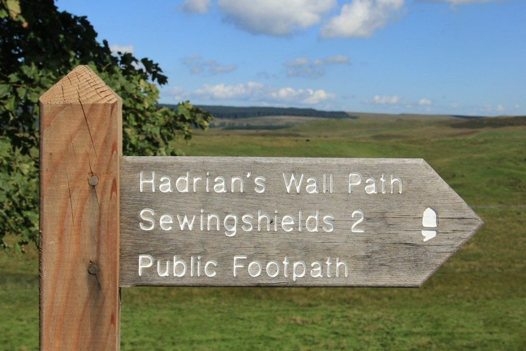 Signpost on the Hadrian's Wall Path