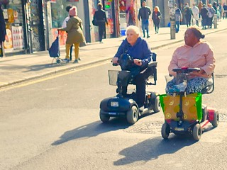Wheel Chaired Old People