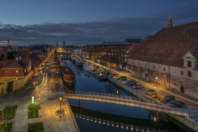 Stille aften ved Frederiksholm kanal