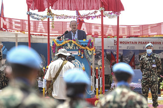 UNMISS peacekeepers from Nepal receive UN Medal | by UNMISS MEDIA
