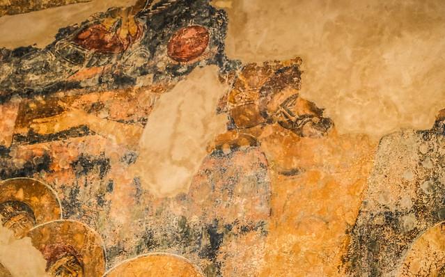 Saint Saba Eddeh Batroun Church Fresco Crucified