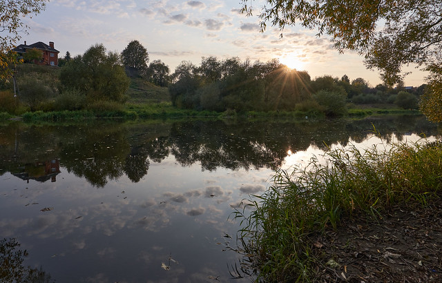 Sunset on the Pahra river