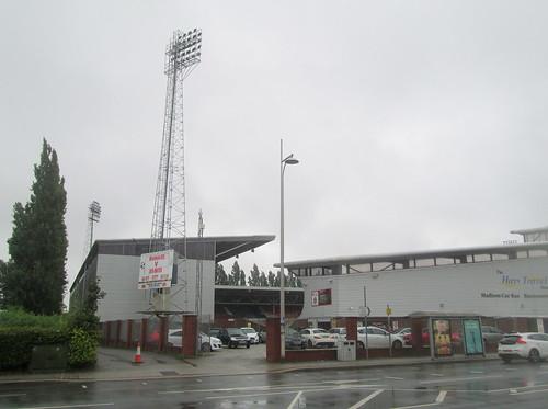Racecourse Stadium, Wrexham, Southwest Corner.