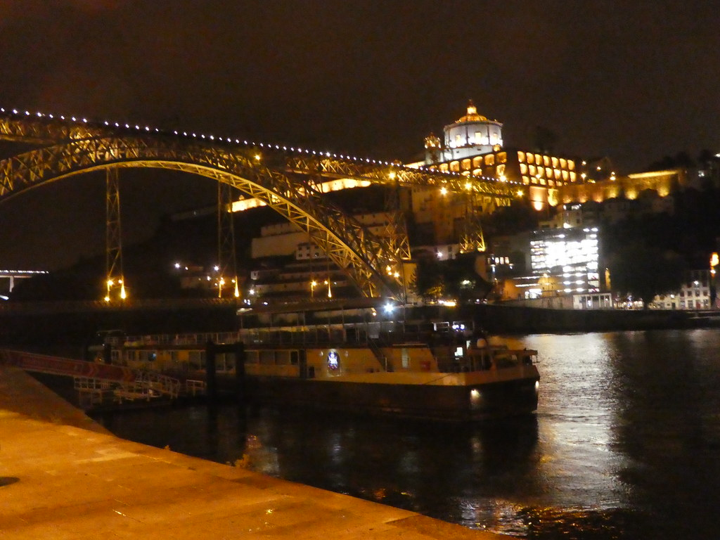 Porto and the Douro river by night