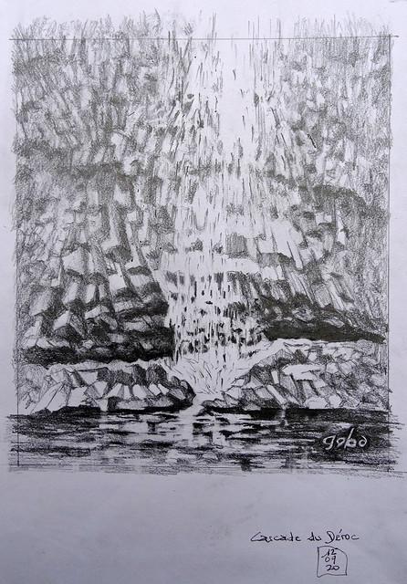basalte- cascade du déroc