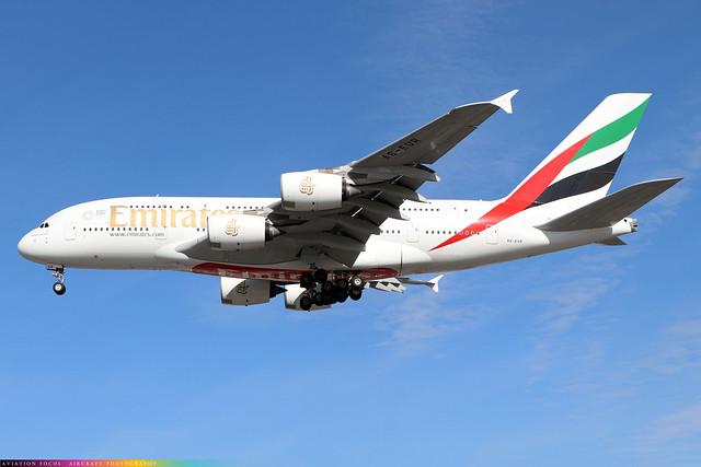 A6-EUR  -  Airbus A380-861  -  Emirates  -  LHR/EGLL 28-9-20