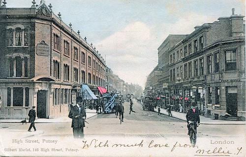 High Street, Putney, London postcard (circa 1904)