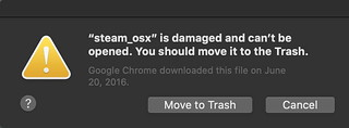 steam_osx is damaged