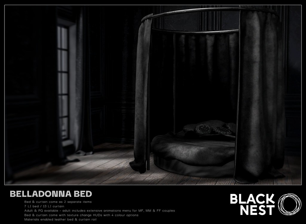 BLACK NEST / Belladonna Bed / Deco(c)rate