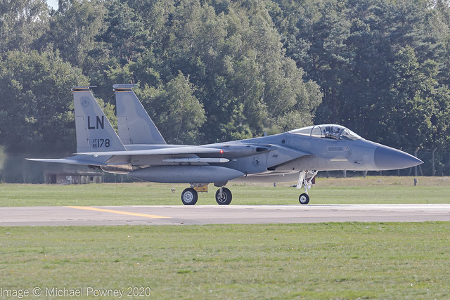 86-0178 - 1986 fiscal McDonnell Douglas F-15C Eagle, lining up for departure on Runway 24 at Lakenheath
