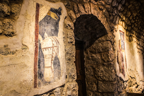 Saint Saba Eddeh Batroun Church Fresco Saint George and Mary | by wanderingmaronite