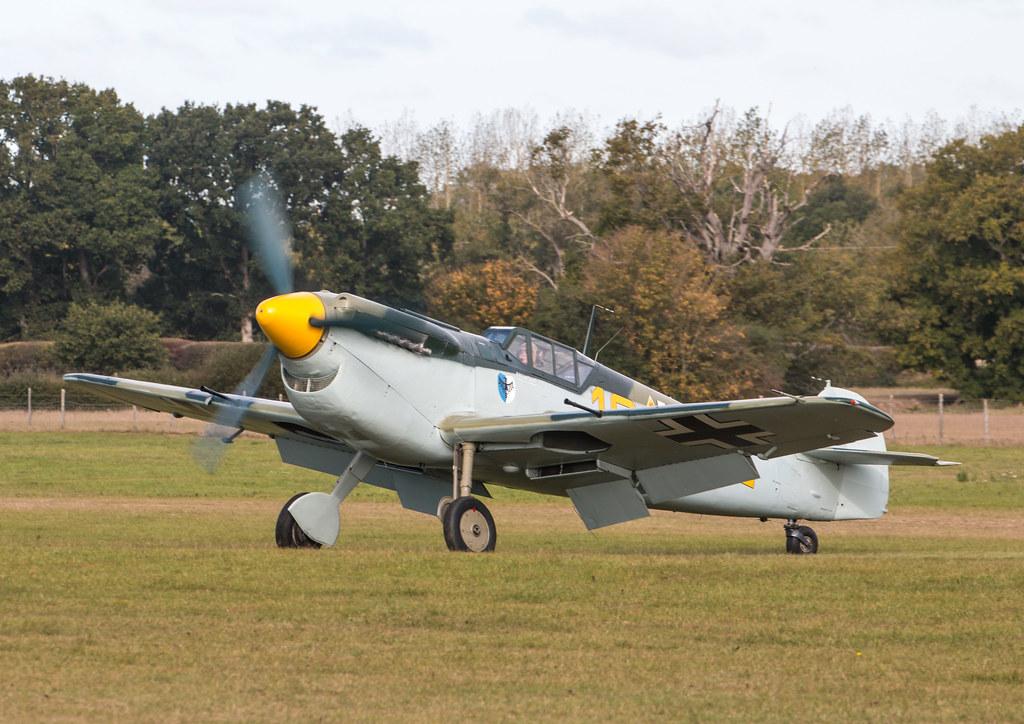 Hispano HA-1112-M1L Buchon - G-BWUE / Yellow 10