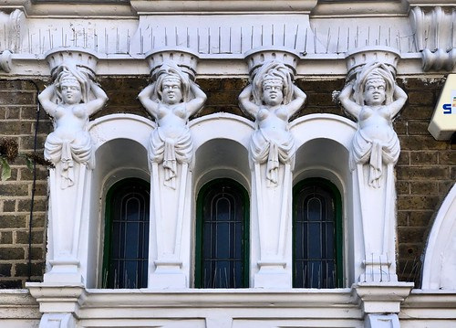 Architectural detail from the former Duke of Fife pub, Forest Gate