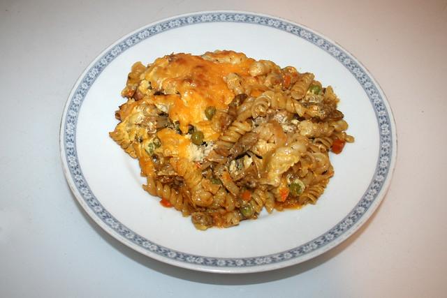 Gyros cabbage casserole with sauce hollandaise - Leftovers II / Gyros-Weißkohl-Auflauf mit Sauce Hollandaise - Resteverbrauch II