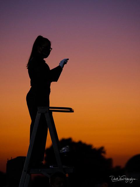 Conducting at Sunset