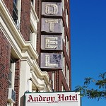 Wed, 2020-09-02 10:21 - Signage for the Androy Hotel in downtown Superior. I wonder if this was a small chain as there is another Androy Hotel in Hibbing, MN.