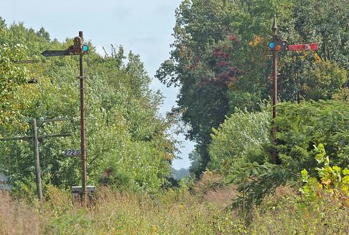 csxhoosiersubdivision semaphoresignals campbellsburgindiana abandonedrailroads mononrailroad