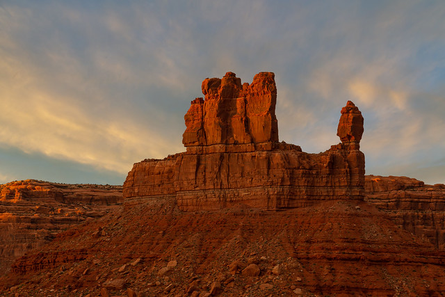 Sunset in the Valley of the Gods