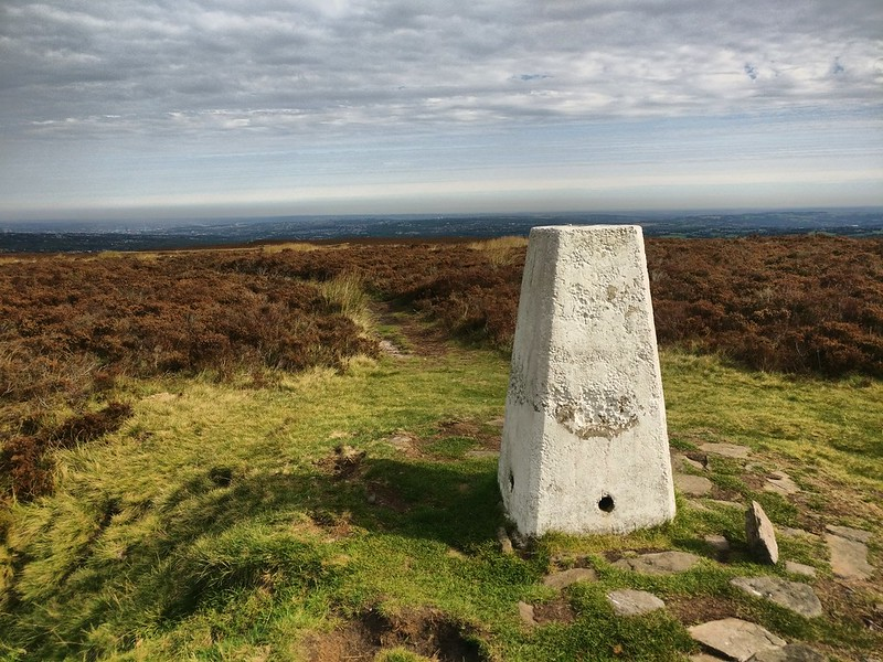 Totley Moss trig point