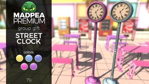 Premium Group Gift: MadPea Street Clock