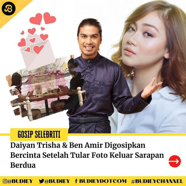 Daiyan Trisha &Amp; Ben Amir Digosipkan Bercinta Setelah Tular Foto Keluar Sarapan Berdua
