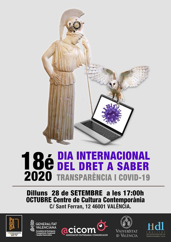 20200928 18é DIA INTERNACIONAL DEL DRET A SABER: TRANSPARÈNCIA I COVID-19
