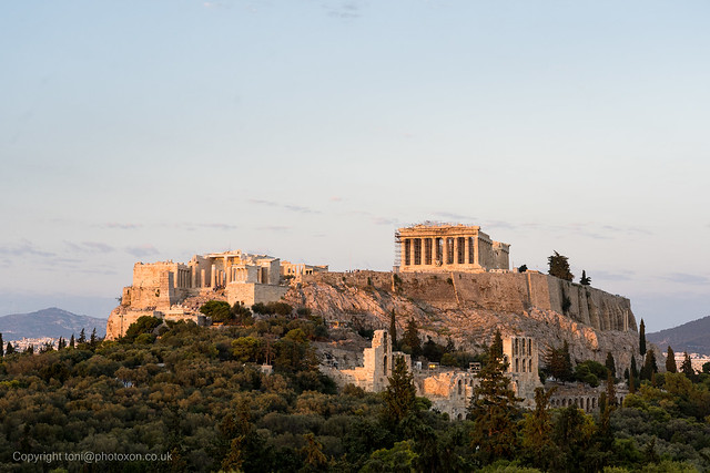 Acropolis at sundown from Filopappas hill-02200