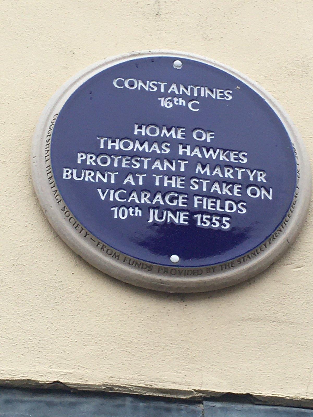 Grim plaque Kelvedon Circular