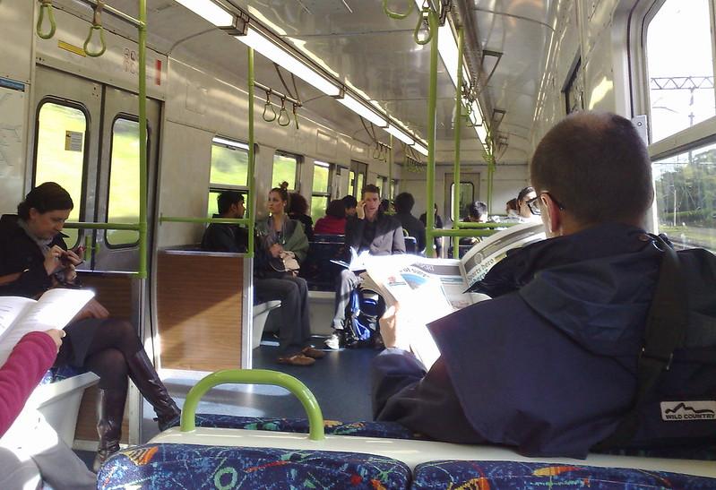 Hitachi train, September 2010