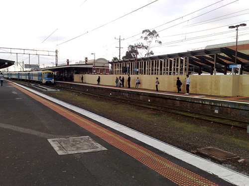 Caulfield station, Metro cafe under construction, September 2010