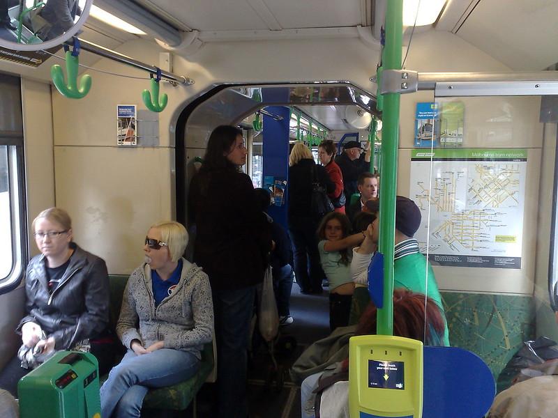 On board a B-class tram, September 2010
